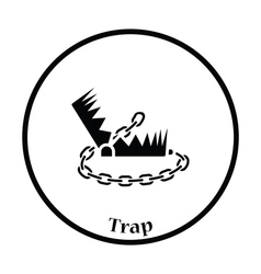 Bear hunting trap icon vector