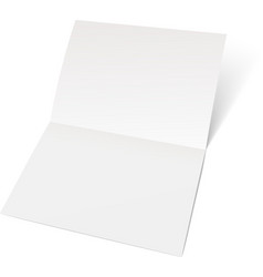 A sheet of paper folded in half vector image