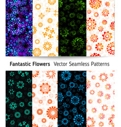 abstract seamless circles design pattern unusual vector image vector image
