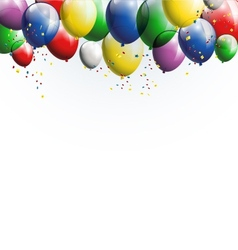 Balloons background for you design vector