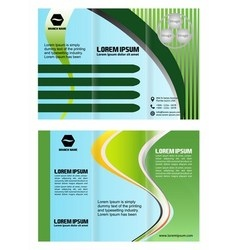 brochure folder leaflet arrow line green vector image