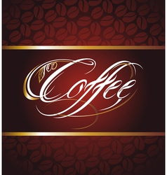 Coffee Calligraphic Lettering vector image