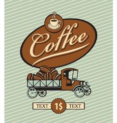 coffee truck vector image vector image