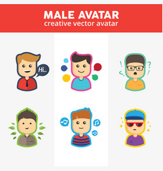 Creative male avatar vector