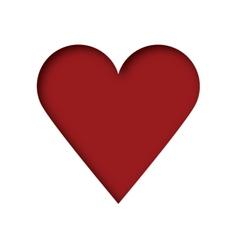 Cut out heart vector