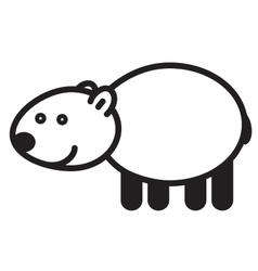 Cute animal polar bear - vector image vector image
