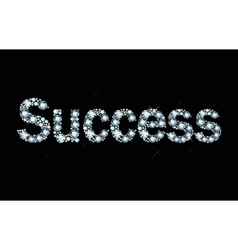 diamond word success vector image vector image