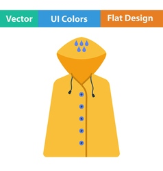 Flat design icon of raincoat vector image vector image