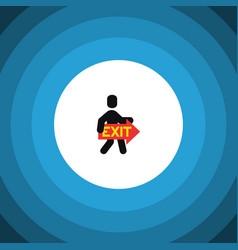 Isolated directional flat icon exit vector