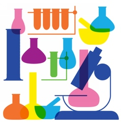 Laboratory and education icon - beaker vector image vector image