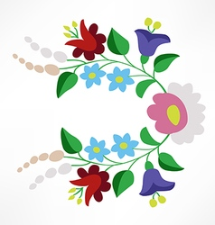 Little colorful hungarian folk embroidery pattern vector