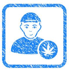 Marihuana dealer framed stamp vector