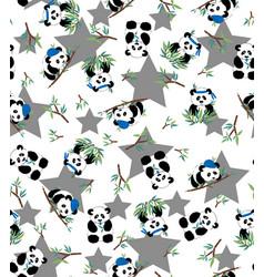 panda bamboo print eps 10 vector image vector image