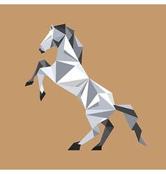 Paper origami horse standing vector image vector image