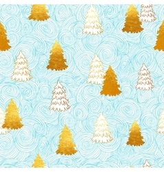 seamless pattern with New Year gold vector image vector image