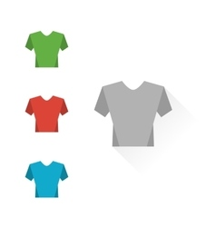 Set of colour t-shirts vector image