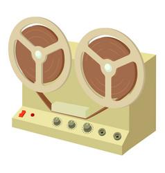 sound recorder icon cartoon style vector image