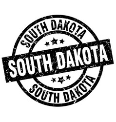 South dakota black round grunge stamp vector