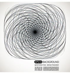 Spiral motion shapes vector image
