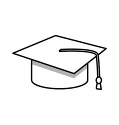 student graduation hat vector image vector image