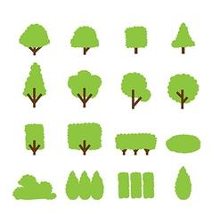 tree and bush icon vector image
