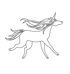 Unicorn icon character 09 vector