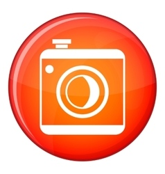 Vintage photo camera icon flat style vector