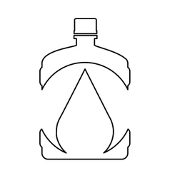 Water big bottle isolated icon vector