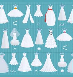 wedding ceremony bride white dress model elegance vector image
