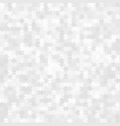 White grey puzzle pieces jigsaw - vector