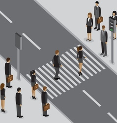 working traffic vector image vector image