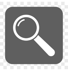 Magnifier rounded square button vector