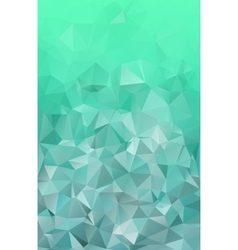 Emerald green abstract polygonal geometric vector
