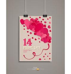 Festive background Valentines Day Vintage vector image