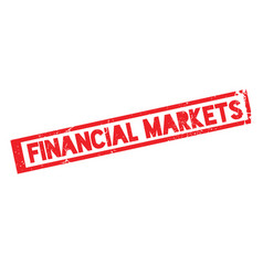 Financial markets rubber stamp vector