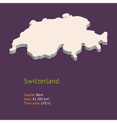 3d map of switzerland vector