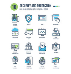 Protection and security monitoring insurance vector