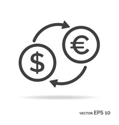 currency exchange outline icon black color vector image