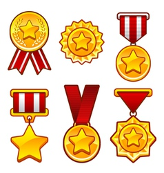 Medals with star vector