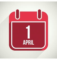 Flat calendar apps icon 1 april fools day vector