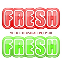 Label with the letters fresh bright premium design vector