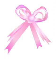 Pink bow vector