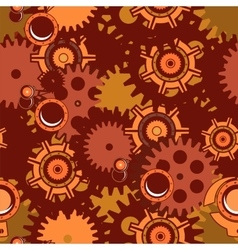 Seamless pattern steampunk mechanism vector