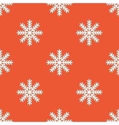 Orange snowflake pattern vector