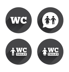 Wc toilet icons gents and ladies room vector