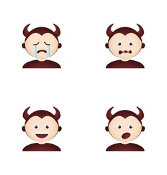 Devil facial expressions vector