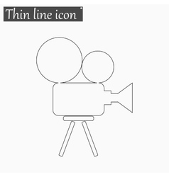 Camera icon style thin line vector