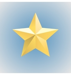 Gold relief star icon stock vector