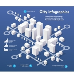 3d city isometric vector