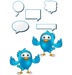 Blue Bird Holding Arms Out vector image vector image